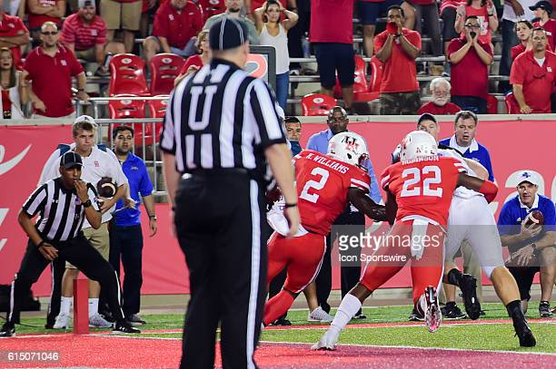 Tulsa Golden Hurricane running back Keenen Johnson catches a pass on the 1 yard line on the last play of the game that was ruled short and confirmed...