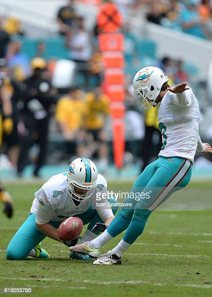 October 16 2016 Miami Dolphins kicker Andrew Franks on a extra point during the second half in a game between the Miami Dolphins and the Pittsburgh...
