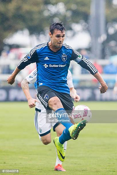 San Jose Earthquakes Forward Chris Wondolowski takes a touch during the Major League Soccer game between the Vancouver Whitecaps and the San Jose...