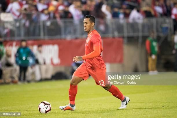 Renato Tapia of Peru in action during the United States Vs Peru International Friendly soccer match at Pratt Whitney Stadium Rentschler Field on...