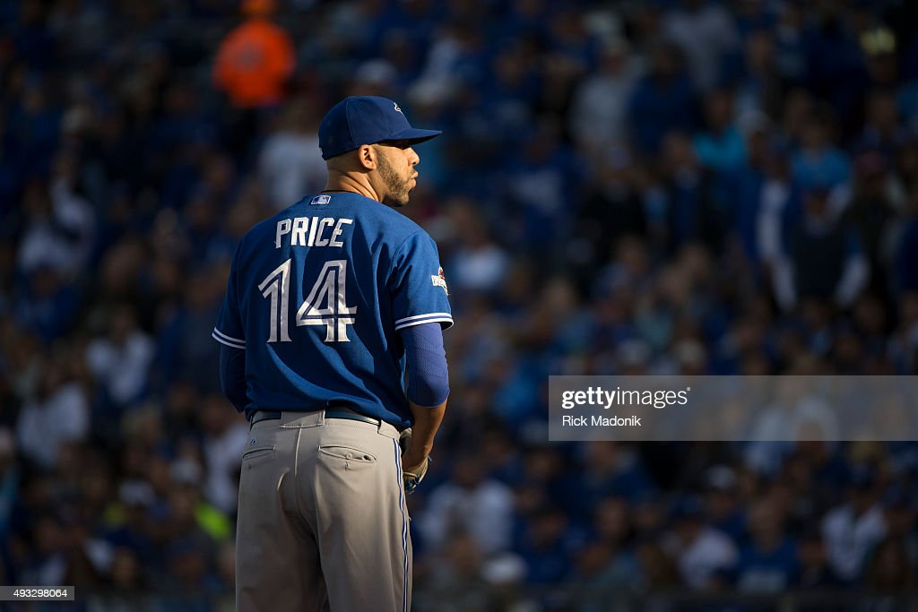 October 17, 2015 - Toronto Blue Jays starting pitcher David Price. Toronto Blue Jays V Kansas City Royals in Game 2 of the American League Championship Series in MLB action at Kauffman Field. Jays lose Game 2 6-3 and go down 0-2 in the series. Toronto Star/Rick Madonik
