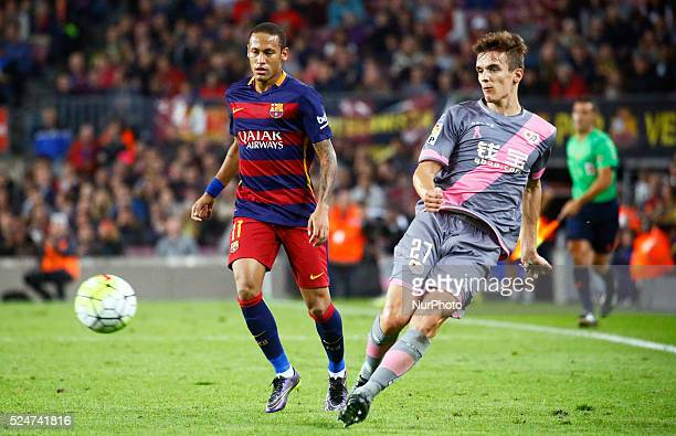 Neymar Jr and Llorente during the march between FC Barcelona and Rayo Vallecano corresponding to the week 8 of the spanish league played at the Camp...
