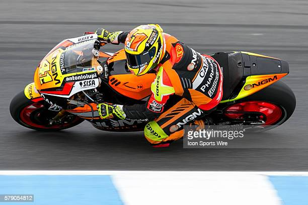 Aleix Espargaro riding for NGM Forward Racing during Qualifying for the 2014 MotoGP of Australia at Phillip Island Grand Prix Circuit on October 18...