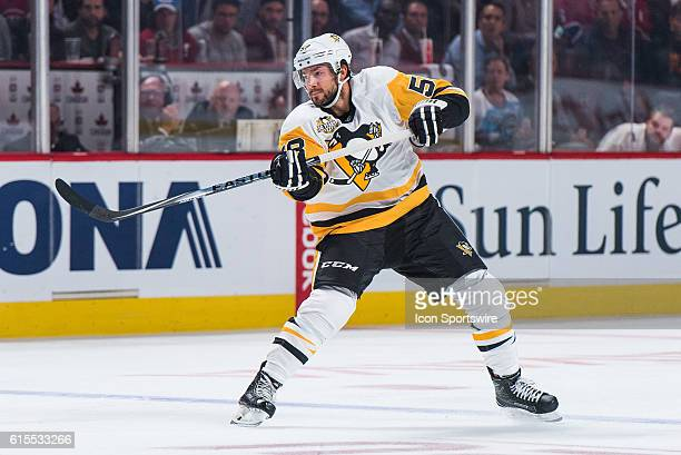 Pittsburgh Penguins Defenceman Kris Letang during the Pittsburgh Penguins versus the Montreal Canadiens game at Bell Centre in Montreal QC