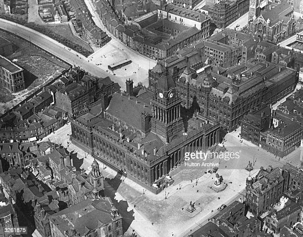 The city of Leeds and the town hall where David LloydGeorge will receive his freedom of the city on his forthcoming visit