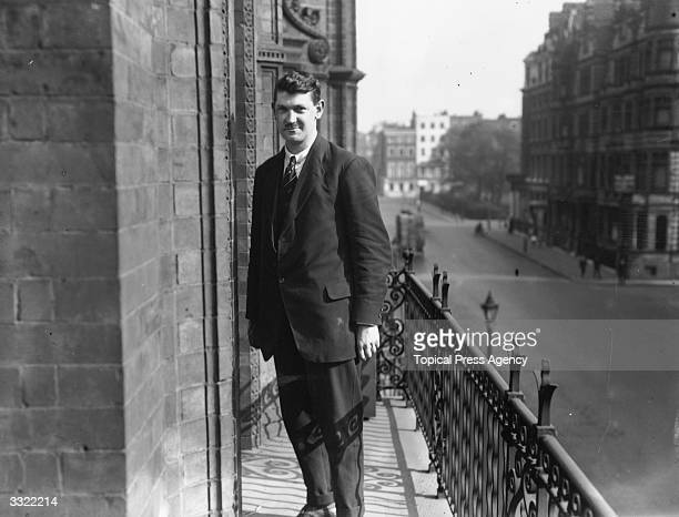 Irish nationalist politician soldier and Sinn Fein leader Michael Collins in London for the treaty negotiations between representatives of Sinn Fein...