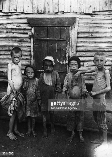 Starving children at Samara Camp during the famine in Russia
