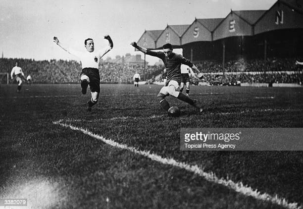 A match in progress between Arsenal and Bolton Wanderers at Highbury London