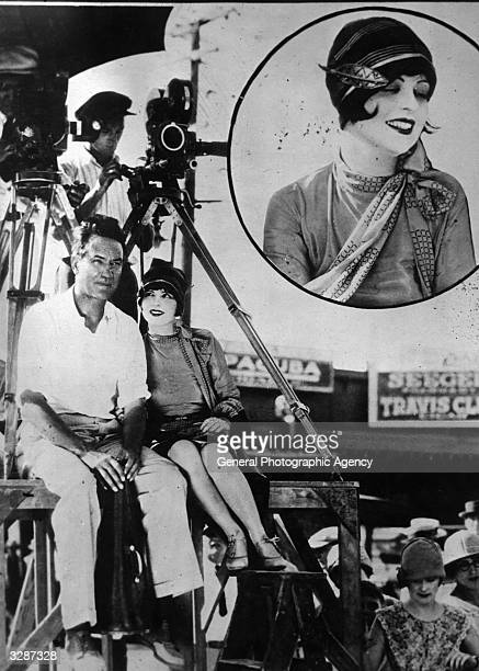 American actress Clara Bow the 'It' girl and her fiance Victor Fleming on location in Texas