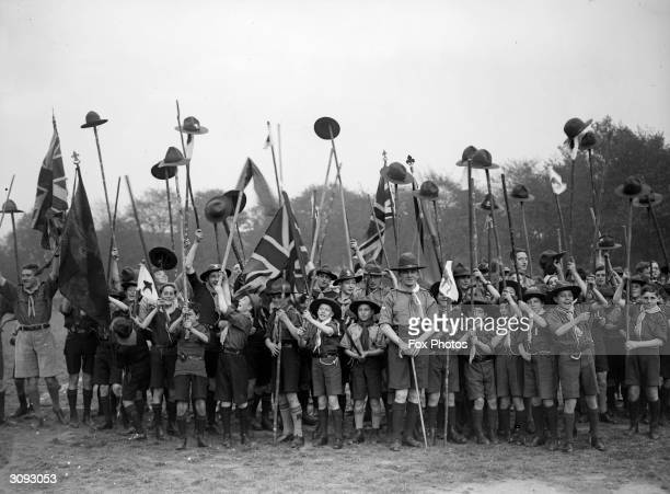 British General and founder of the Scout Association Sir Robert BadenPowell at the Scout Rally at Plashett Park East Ham