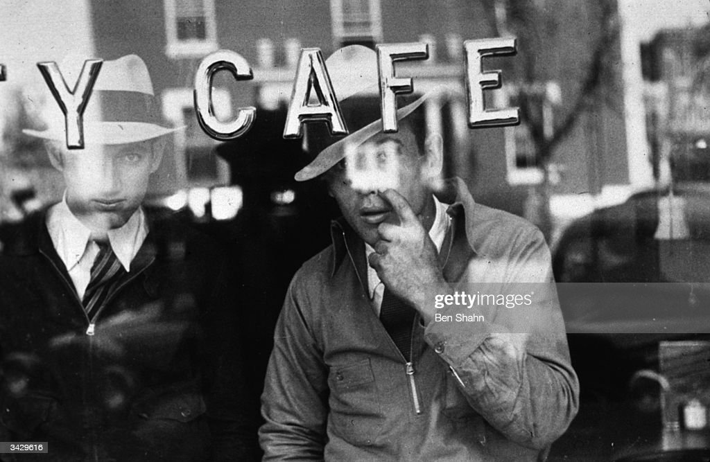 Men outside a cafe in Murfreesboro, Tennessee.