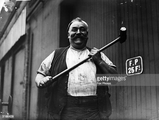 Tom Teece a blacksmith at the LMS locomotive works in Crewe