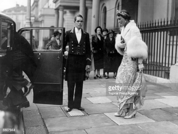 Marina Duchess of Kent leaving her home in Belgrave Square London to attend the State Opening of Parliament