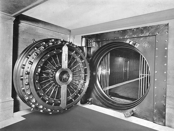 The entrance to the Midland Bank Safe Deposit in the...