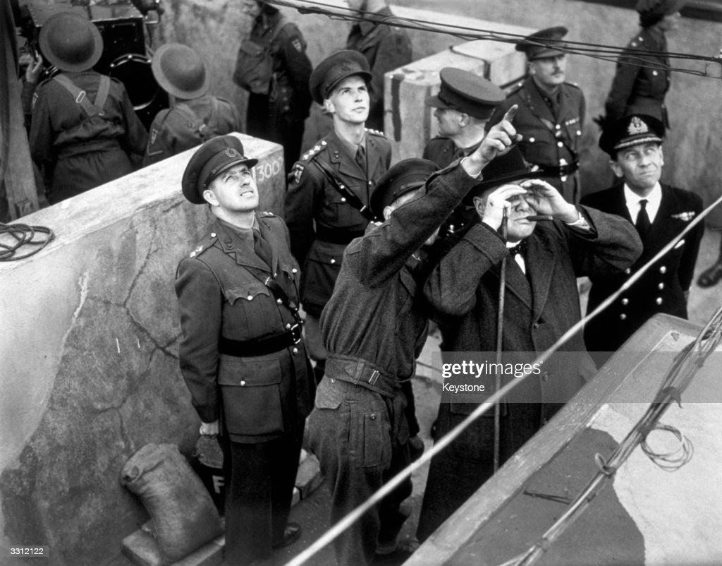 Churchill Visits : News Photo
