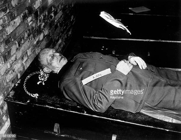 The body of Alfred Jodl Hitler's chief adviser and chief of Operations Staff after his execution at Nuremberg