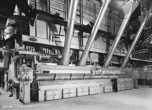 A view of the inside of the Power Station at Kingston upon Thames Surrey showing one of the five coalfired boilers Opened in 1948 the Power Station...