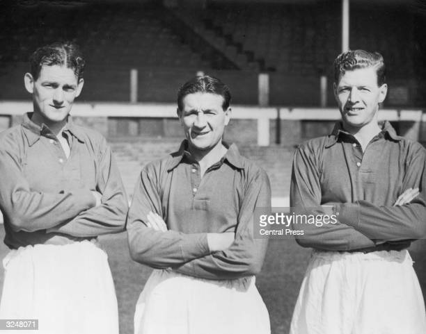 Liverpool FC players, left to right: Phil Taylor, Bob Paisley and Edward Spicer.