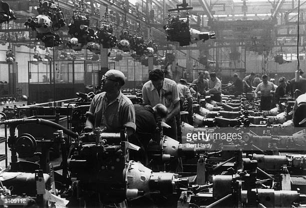 The Rootes Group car factory in Coventry where the new 1955 Sunbeam Rapiers are being manufactured Original Publication Picture Post 8111 1955...