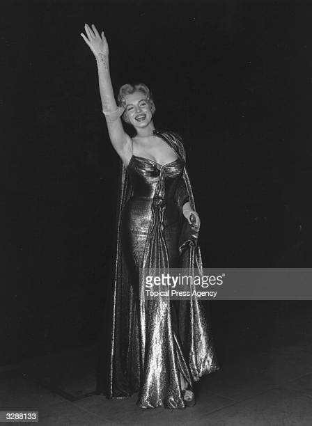 Film star Marilyn Monroe , at a Royal film performance at the Empire, Leicester Square, London