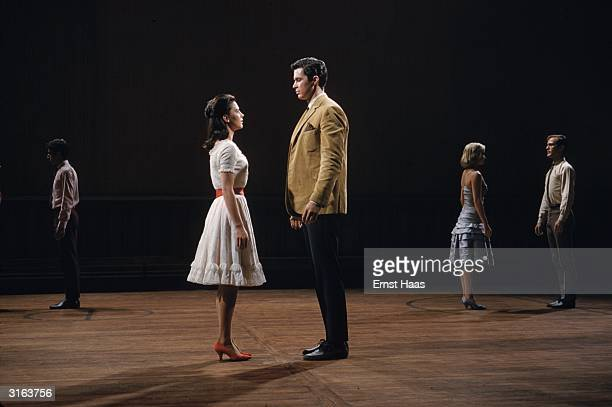 Natalie Wood and Richard Beymer play the starcrossed lovers in the musical 'West Side Story' with music by Leonard Bernstein and choreography by...