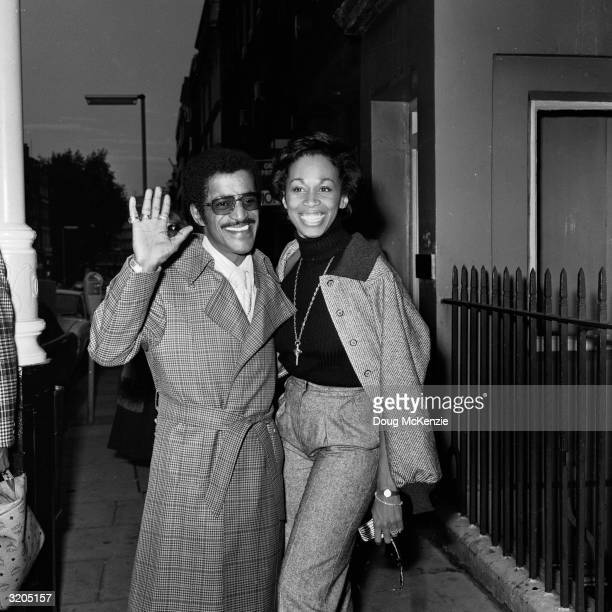 American dancer vocalist and actor Sammy Davis Jnr and his wife singer Altovise Gore