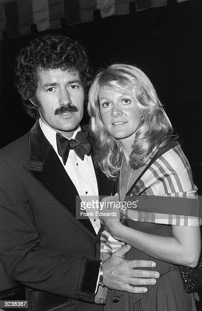 Canadian game show host Alex Trebek stands with his wife Elaine at the Annual Thalian Ball California He is wearing a velvettrimmed tuxedo and his...