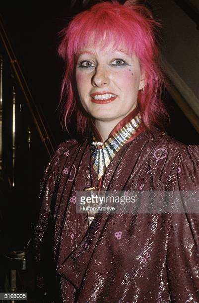 Fashion designer Zandra Rhodes at a Women of the Year luncheon