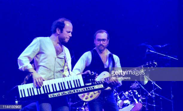 October 1982]: Jan Hammer and Al Dimeola performing at the Savoy Theatre October 1982 in New York City.