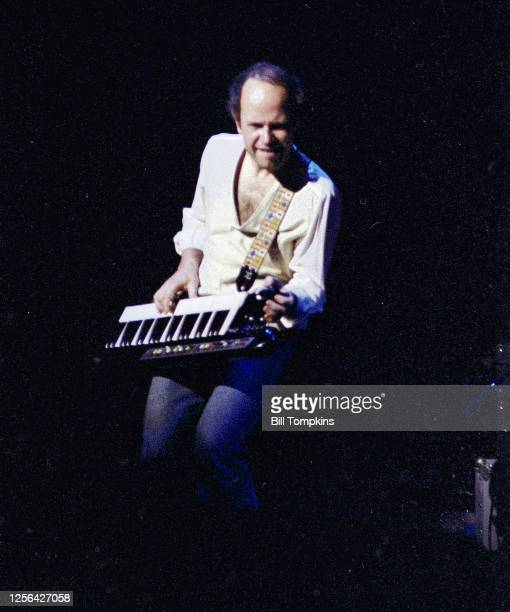 October 1982]: MANDATORY CREDIT Bill Tompkins/Getty Images Jan Hammer performing at the Savoy Theatre October 1982 in New York City.