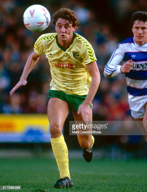 27 October 1984 English Football League Division One Norwich City v Queens Park Rangers Steve Bruce of Norwich