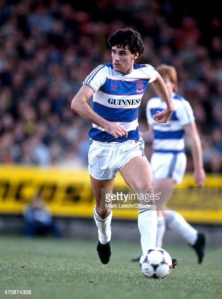 27 October 1984 Football League Division One Norwich City v Queens Park Rangers John Gregory of QPR in action against Norwich City