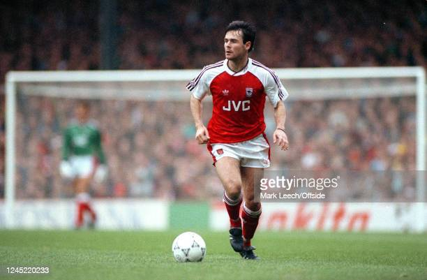 6 October 1990 English Football Division One Arsenal v Norwich Anders Limpar of Arsenal