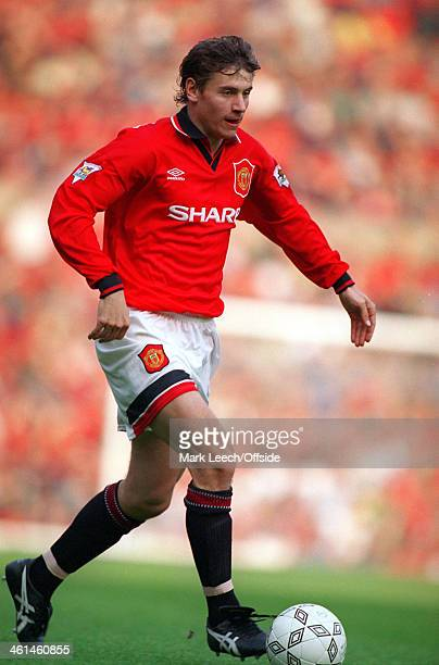 15 October 1994 Premiership football Manchester United v West Ham Andrei Kanchelskis on the ball for Man United