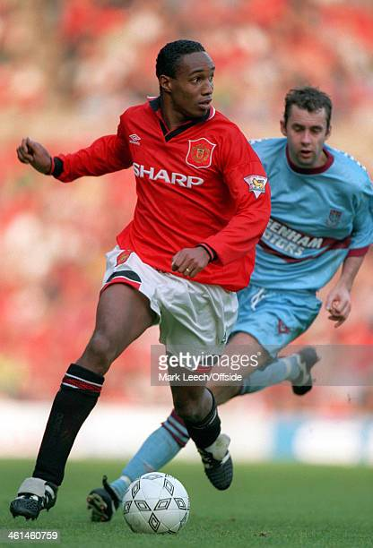 15 October 1994 Premiership football Manchester United v West Ham Paul Ince on the ball