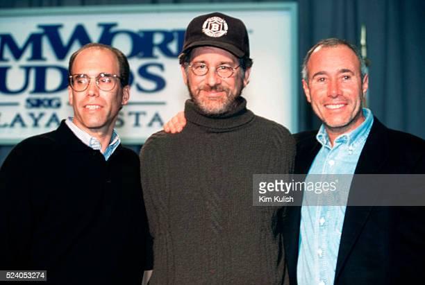 David Geffen, Steven Spielberg, and Jeffrey Katzenberg of Dreamworks SKG.