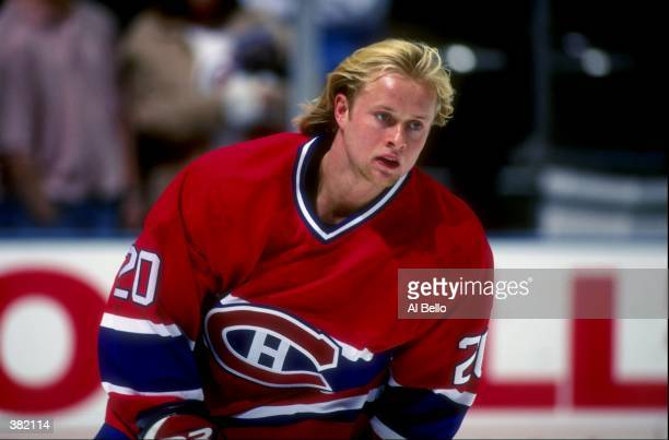 Valeri Bure of the Montreal Canadiens in action against the New Jersey Devils at Continental Airlines Arena in East Rutherford, New Jersey. The...