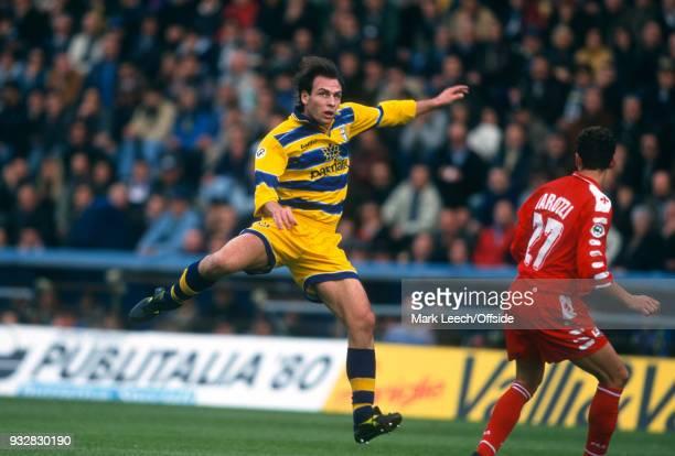 31 October 1998 Parma Serie A Parma v Fiorentina Alain Boghossian of Parma