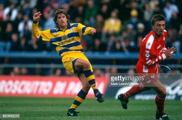 31 October 1998 Parma Serie A Parma v Fiorentina Hernan Crespo of Parma