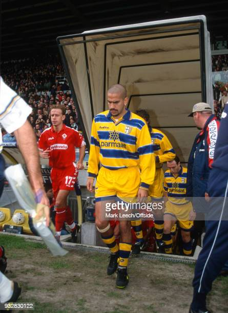 31 October 1998 Parma Serie A Parma v Fiorentina Juan Sebastian Veron of Parma walks out of the tunnel onto the pitch