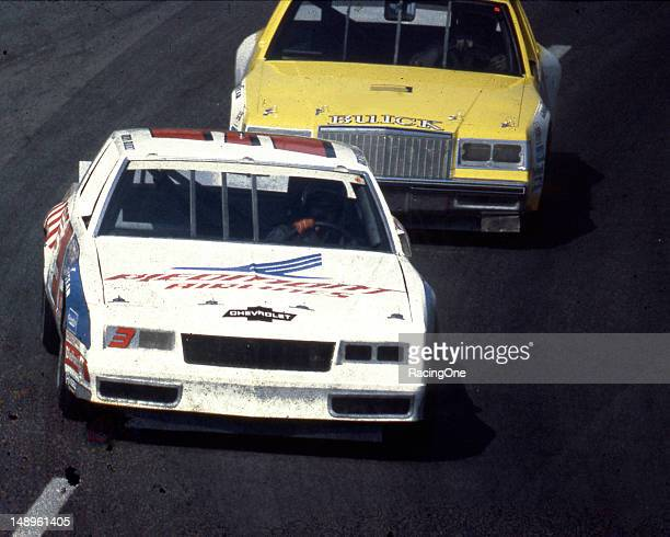 Ricky Rudd leads Ron Bouchard during the Holly Farms 400 NASCAR Cup race at North Wilkesboro Speedway The pair finished sixth and seventh in the event