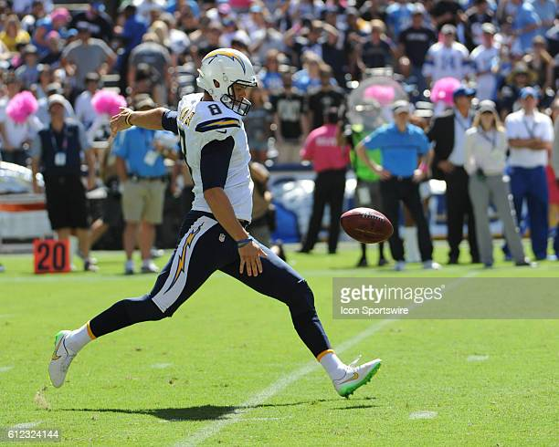October 2 2016 San Diego Chargers Punter Drew Kaser during the NFL Football game between the New Orleans Saints and the San Diego Chargers at...