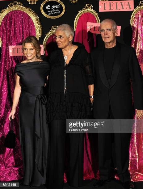 October 20, 2008. Palace Hotel, Madrid, Spain. Telva Fashion Magazine Prizes. In the image, the jewels designers Salvador Tous and Rosa Oriol with...