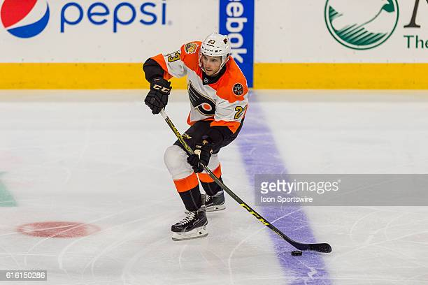 Philadelphia Flyers defenseman Brandon Manning in action during the NHL game between the Anaheim Ducks and the Philadelphia Flyers played at the...