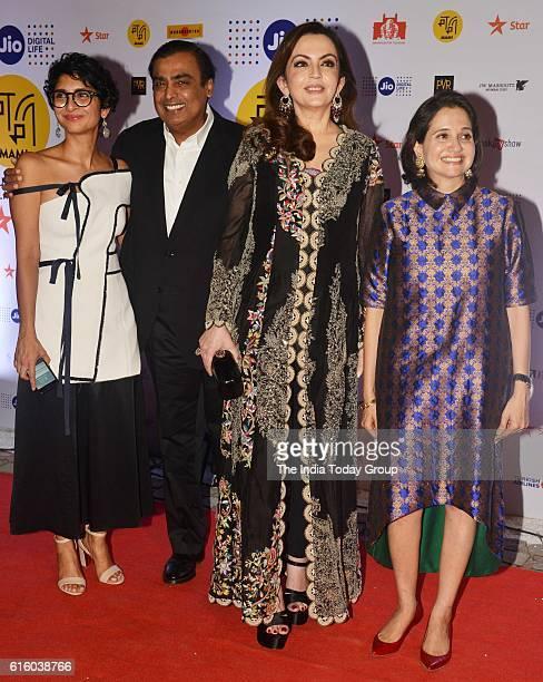 Mukesh Ambani with his wife Nita Ambani during the opening ceremony of Jio MAMI 18th Mumbai Film Festival at the Royal Opera House in Mumbai