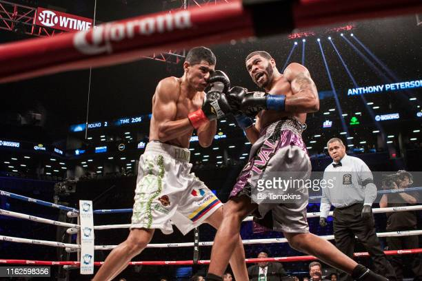 MANDATORY CREDIT Bill Tompkins/Getty Images Anthony Peterson vs Luis Eduardo Flores ends in NC in their Junior Welterweight fight at the Barclay...