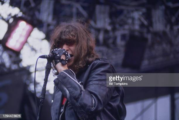 October 2000]: MANDATORY CREDIT Bill Tompkins/Getty Images The Ramones perform on July 14th, 1996 in Quebec City.