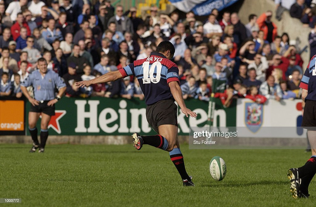 Tommy Hayes of Glasgow in action during the Heineken Cup Match between Cardiff and Glasgow, at The Arms Park, Cardiff. DIGITAL IMAGE. Mandatory Credit: Stu Forster/ALLSPORT