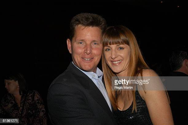 23 October 2003 TOM BURLINSON and wife MANDY at the after party for the opening night of his show Frank A Life In Song A show about Frank Sinatra by...