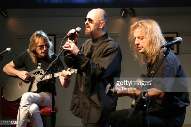 October 2004]: Judas Priest perform an acoustic set October 2004 in New York City.